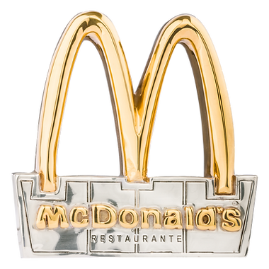 Logo of McDonalds in Gold & Silver