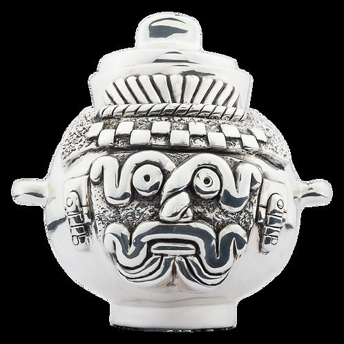 Silver Tlaloc's Pot