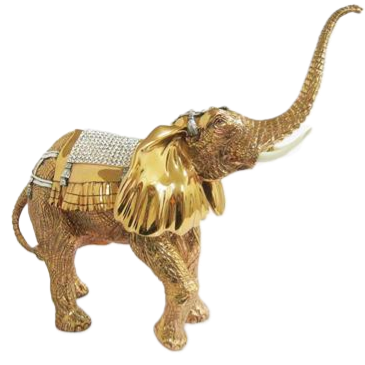 Gold Elephant Statue - Indian