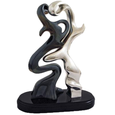 Silver Lovers Sculpture
