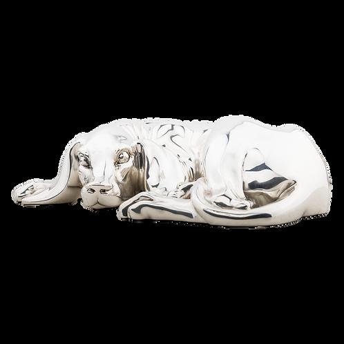 Silver Dog Statue
