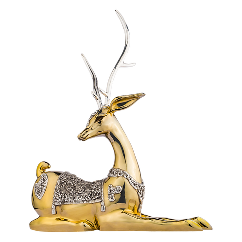Young Thai Gold Deer Statue