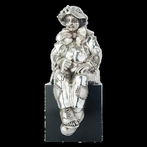 Silver Clown Statue