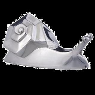 Silver Samy, the Snail Figurine