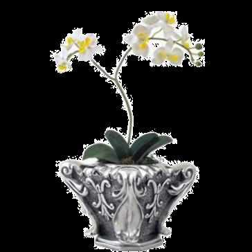 Silver Flower Pot Ionic Column Top