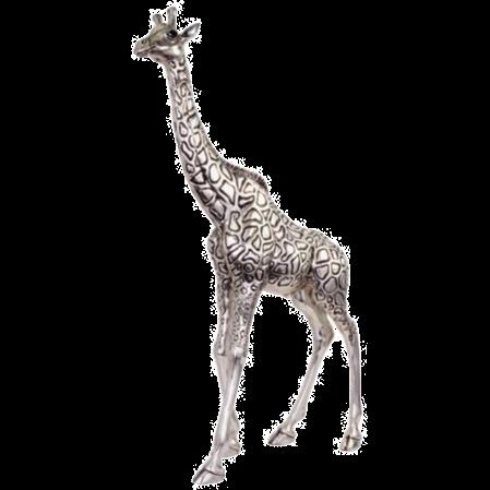 Silver Giraffe Statue