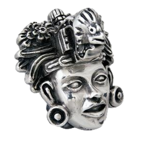 Teotihuacan's King Bird Crown Figurine