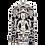 Thumbnail: شاه مایان با مجسمه نقره ای تاج صورت