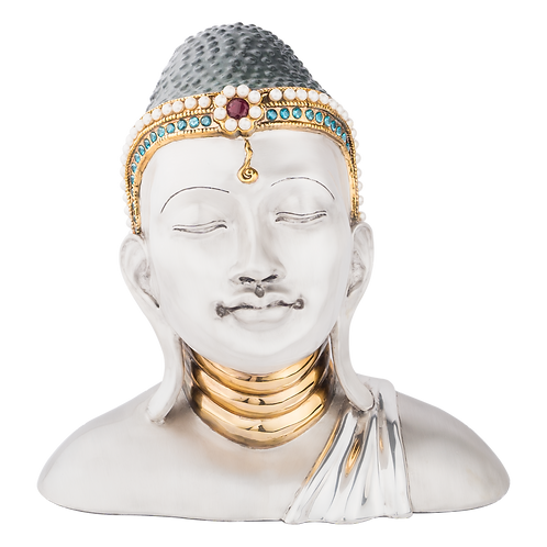 Silver Budah Statue