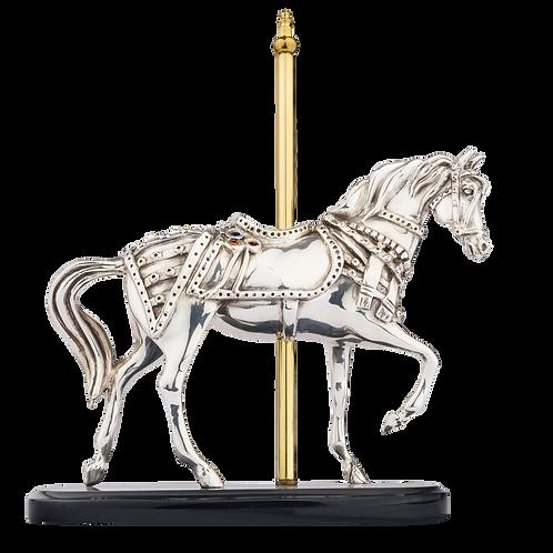Carrousel Silver Horse Statue