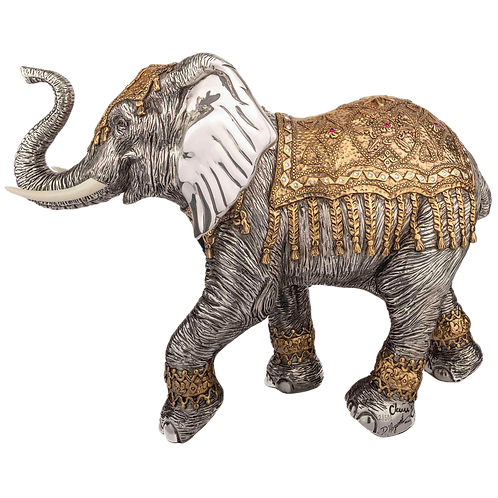 Indian Silver Elephant Statue