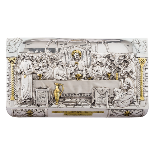 The Last Supper Relief Silver Sculpture