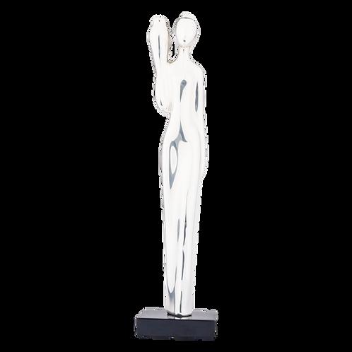 Silver Woman Bringing Water Statue - Aquarius