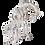 Thumbnail: Silver Giraffe Calf Statue