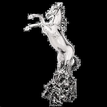 تمثال حصان تربية فضية