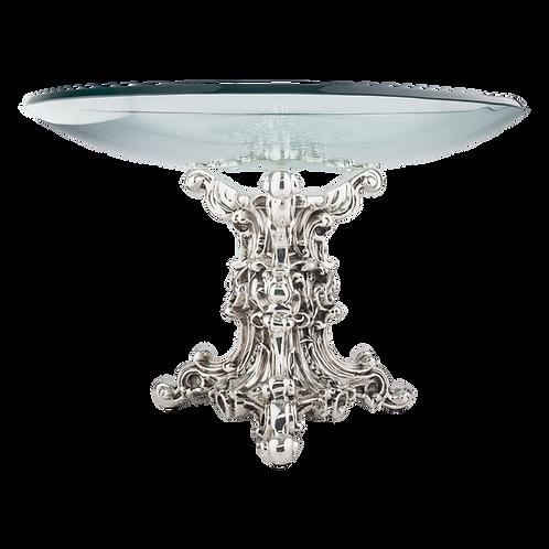 Silver Fruit Bowl - Glass Top Centrepiece