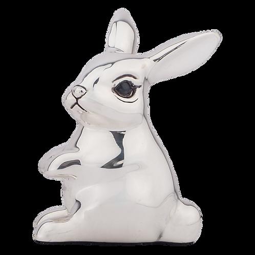 Little Silver Bunny Figurine