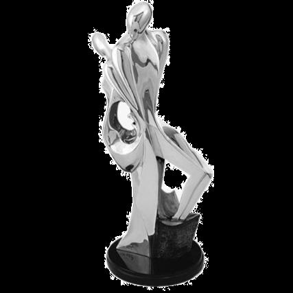 Silver Couple Statue