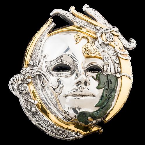 Silver Swan Mask Sculpture