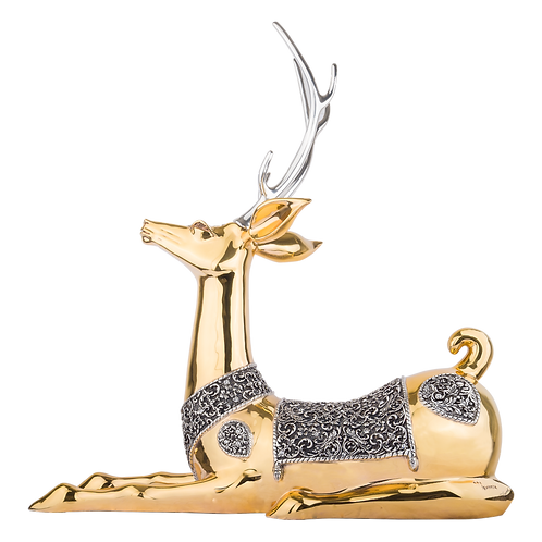 Gold Thai Deer Statue - Great Sambar Deer