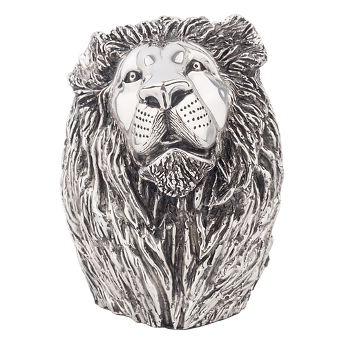 Silver Lion Book End Statue