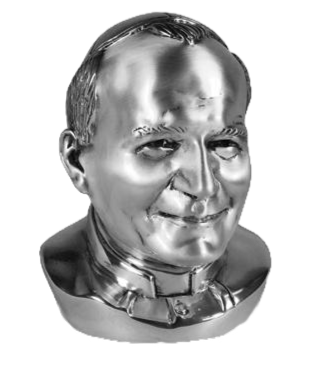 Jean Paul II Statue in Silver