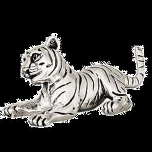Playful Tiger Statue Cub