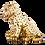 Sitting Gold Leopard Cub Statue
