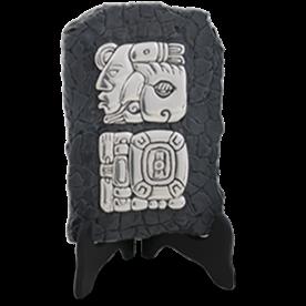 Silver Mayan Relief Man Bird