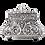 Thumbnail: جرة حرق الجثث كبيرة مدورة من الفضة