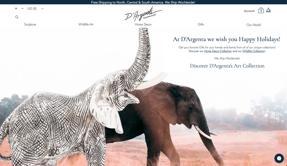 D'Argenta Website