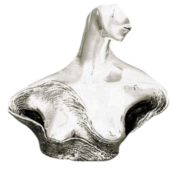 Woman Of Peace Silver Bust