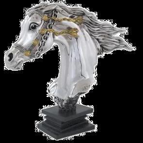 Running Bridled Horse Head Statue
