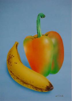 Poivron et banane