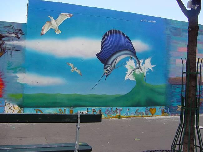 Peinture murale à Paris