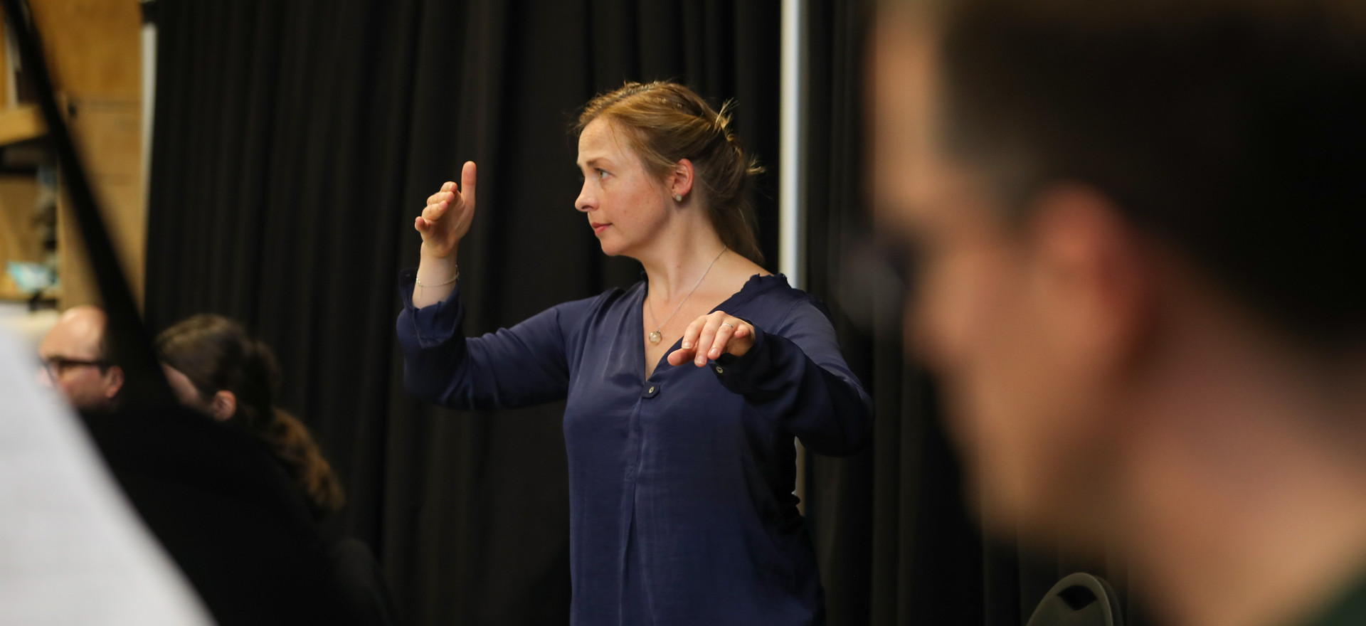 Holly Mathieson and repetiteur David Kel