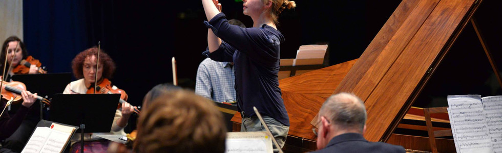 Holly conducts CPE Bach Double Concerto with Dunedin Symphony