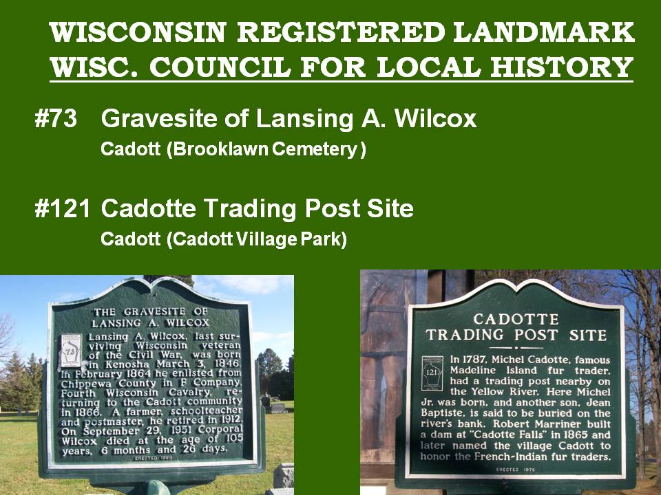 Historic Markers of Chippewa County | cahc