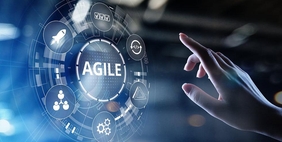 Agile development methodology concept on