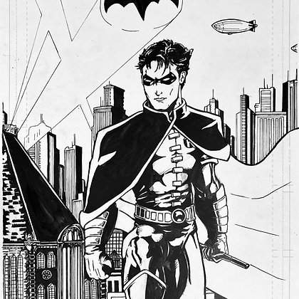 Robin Original Pencil and Inks