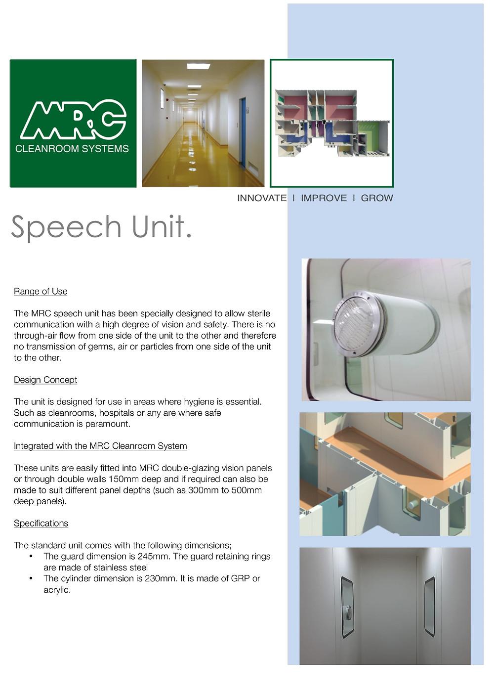 MRC Speech Unit