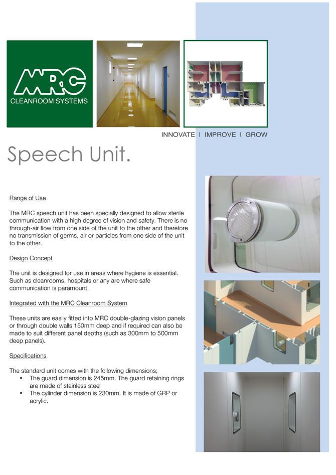 MRC Speech Unit | For Sterile Communication