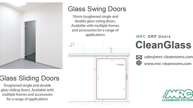 MRC Doors | Hygienic Glass Doors