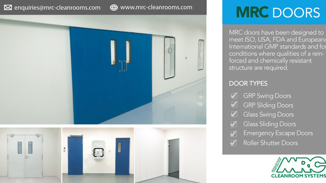 MRC Doors | Smart Choice for Cleanroom and Industrial Environments