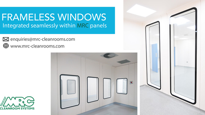 Cleanroom Window | Vision Panel | Integrated flush within the panels
