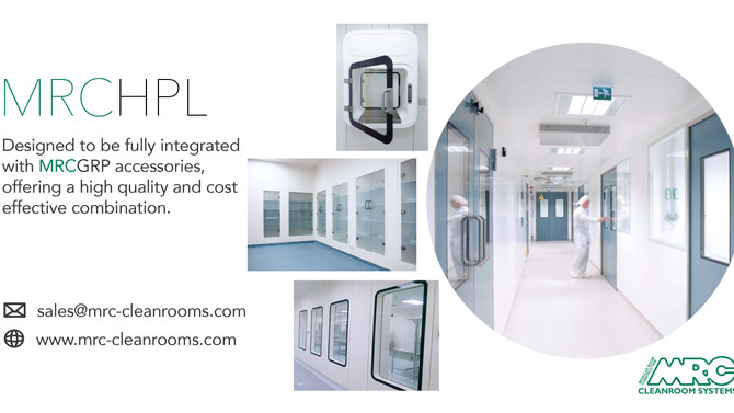 MRCHPL Cleanroom Partition | Integration with the joint free GRP accessories range