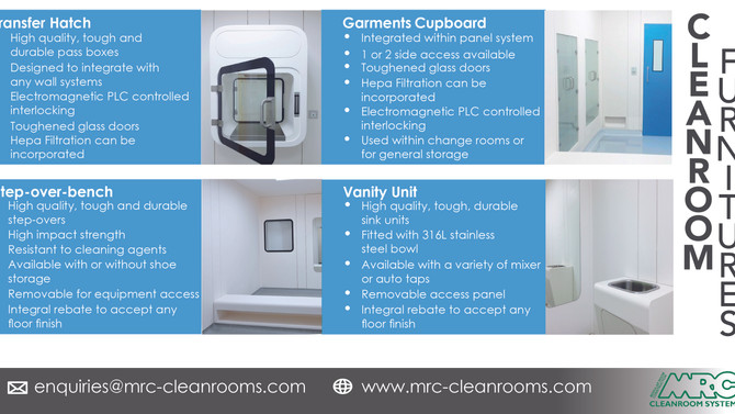 MRC Cleanroom Furniture | High quality and performance