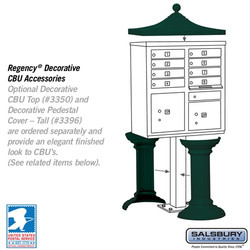 Mailbox - Accessory Pedestal for Clusterbox