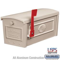 Mailbox - Residential Creme Aluminum