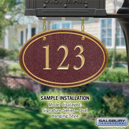 Mailbox - Accessory House Number Sign